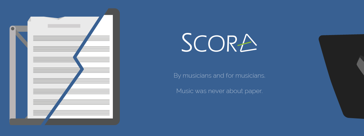 Scora, music tablets and magnetic stands
