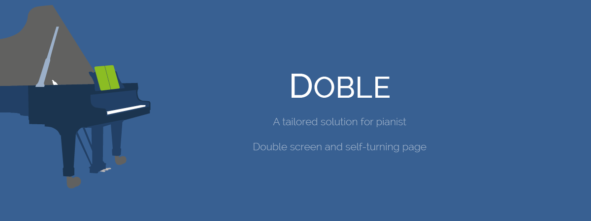 Scora doble, solution for pianists